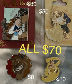 Disney Beauty and the Beast trading pins for Sale in Whittier, CA