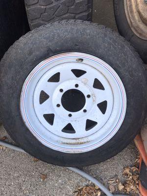 Trailer tire. Rims are 15 for Sale in Los Angeles, CA