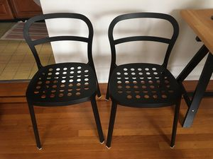Two black metal chairs for Sale in New York, NY