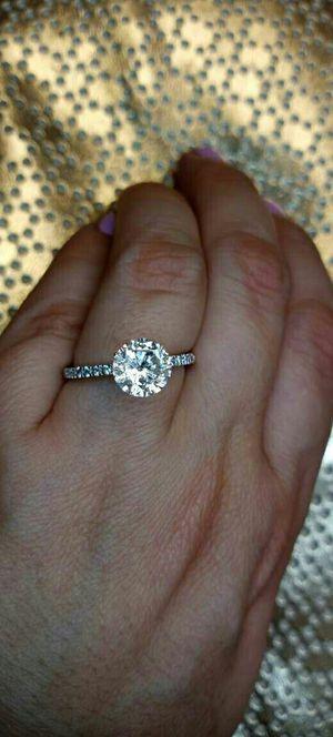 2 carat certified diamond engagement ring 18k gold for Sale in Atlanta, GA