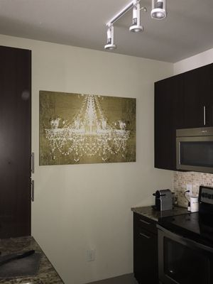 Gold Chandelier Canvas Print for Sale in Dallas, TX