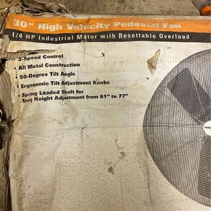 High Velocity Pedestal Fan for Sale in Elverta, CA