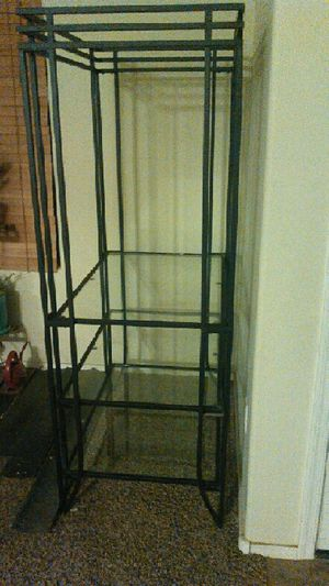 Black and glass 3-tiered shelf for Sale in Red Rock, AZ