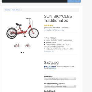 Sun 3wheel Bike for Sale in Modesto, CA