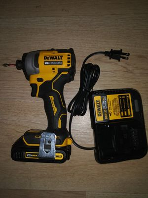 DEWALT ATOMIC 20-Volt MAX Brushless Impact Driver with 1.5 battery and charger for Sale in San Diego, CA