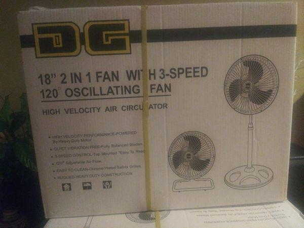 "18"" Brand new 2 in 1 oscillating fan"