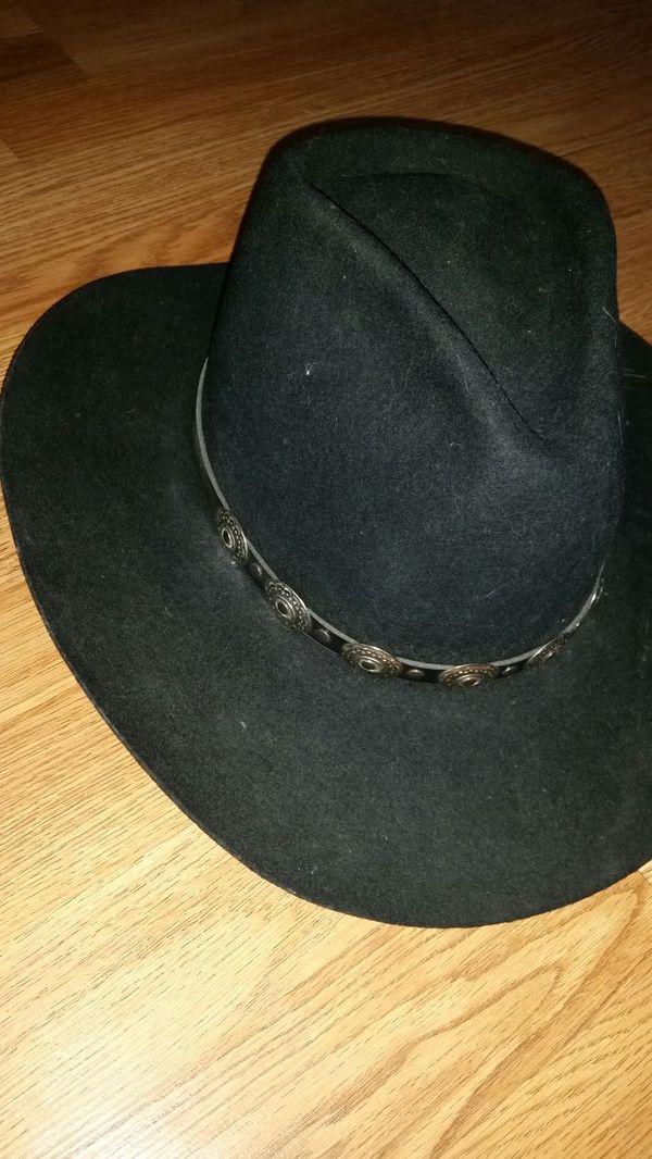 4edab6fce3f Hat stetson stallion black 7 1 2 wool for Sale in Nashville