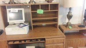 Computer desk with printer cart for Sale in Fort Meade, FL