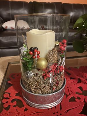 Christmas Candle and Vase for Sale in Orlando, FL