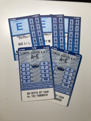 5 Metra A-E 10 ride pass for Sale in Burr Ridge, IL