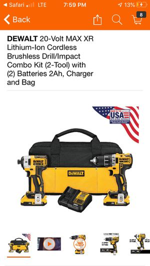 Dewalt 20V XR Brushless Drill Driver/Impact set w/ 2.0AH Batteries and Changer! for Sale in Cupertino, CA