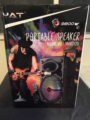 Bluetooth speaker radio fm USB and SD card microphone 🎤 size 12 for Sale in Huntington Park, CA