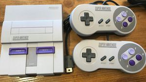 Super nintendo 2 controllers all cords for Sale in Wake Forest, NC