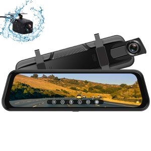 New Backup Camera, 10Inch 1080P HD Mirror Dash Camera, Rear View Front and Rear Dual Lens with Loop Record, G-Sensor, 1080P Waterproof Reversing Assi for Sale in Orlando, FL