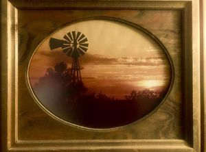 WINDMILL PHOTO IN BEAUTIFUL WOOD FRAME for Sale in Wichita, KS