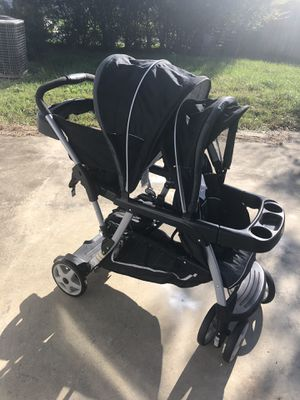 Graco Ready2Grow Click Connect LX Double Stroller for Sale in Chesapeake, VA