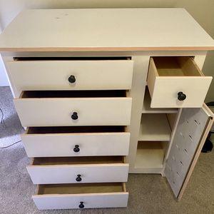 White & Pink Bedroom Set- dresser, bookshelf, and 2 side tables for Sale in Atlanta, GA