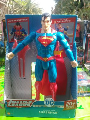 NEW 12in SUPERMAN with red eye light sounds and phrases for Sale in South Gate, CA