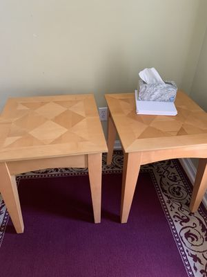 Wood nice two table for sale for Sale in Dublin, OH
