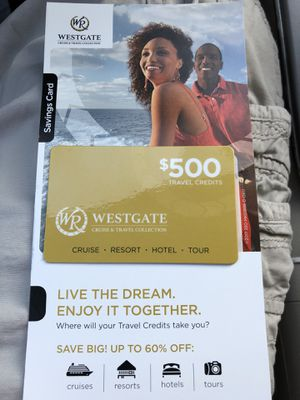 $500 Westgate cruise card for Sale in Midlothian, VA