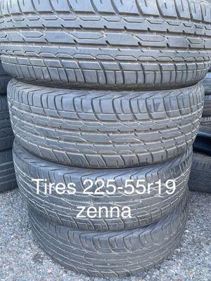 Tires 225-55r19 zenna for Sale in Anaheim, CA