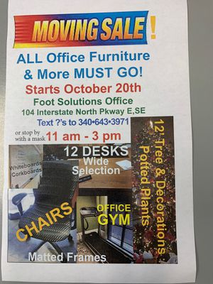 Office Furniture plus more! Everything goes! for Sale in Atlanta, GA