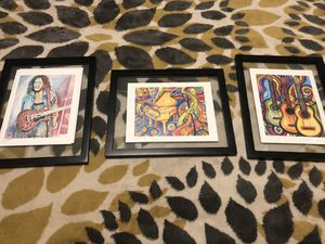 Set of three musical art prints for Sale in Shoreline, WA