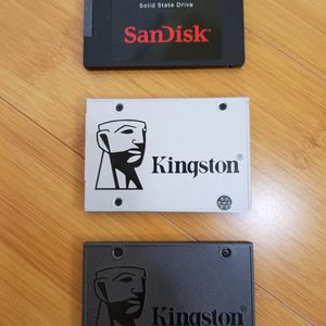 Two 120GB Kingston & One 240GB Sandisk Solid Drive for Sale in Walnut, CA