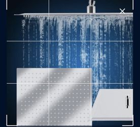 "12"" Stainless Steel Square Rain Showerhead for Sale in Los Angeles,  CA"