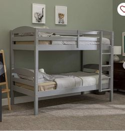 Solid Wood Twin Over Twin Bunkbed Gray for Sale in Surprise,  AZ