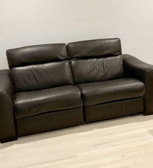 Brown leather recliner sofa for Sale in North Miami Beach, FL
