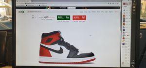 Jordan 1 Retro High satin black toe for Sale in Anaheim, CA