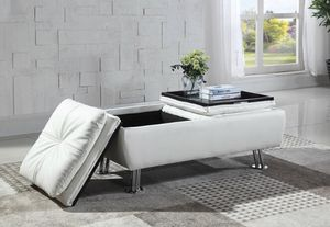 White STORAGE OTTOMAN for Sale in Hollywood, FL