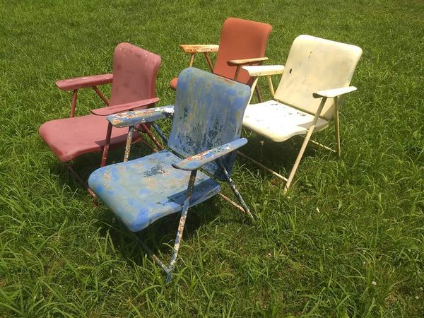 Vintage metal lawn chairs $75 each