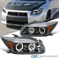 05-10 Scion tC JDM Black LED Halo Projector Headlights Head Lamps Left+Right for Sale in Whittier,  CA