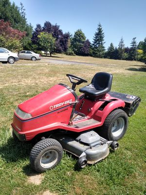 Nice Troy bilt garden tractor/riding mower with tiller attachment for Sale in St. Helens, OR