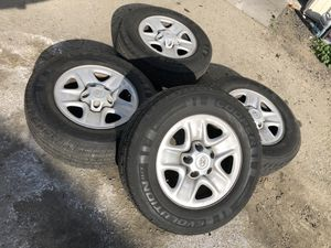 4 Cooper Tires with Stock Wheels For Toyota Tundra for Sale in Bakersfield, CA