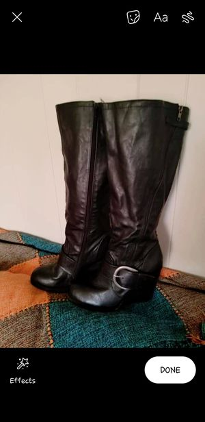 New Aldo leather boots size 10 for Sale in Lowell, MA