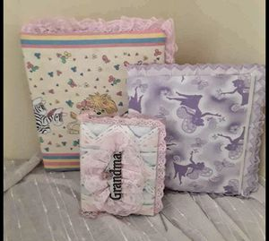 3 fabric photo Albums for Sale in Evansville, IN