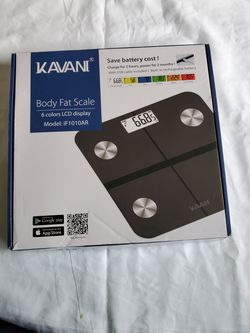 Kavani Rechargeable Smart Fat Scale, Bluetooth Bathroom BodyScale Mod: iF 1010AR for Sale in ROWLAND HGHTS,  CA