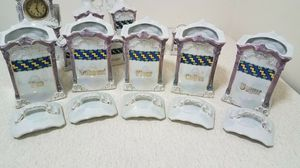 Rare mepoco Germany Stunning antique pearl lustre ware w/ clock 13pcs for Sale in Brooklyn, NY