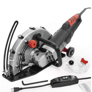 """XtremepowerUS 2600W Electric 14"""" Disc Cutter Circular Saw Concrete Saw Power Angle Cutter Wet/Dry Circular Blade w/Guide Roller for Sale in Long Beach, CA"""