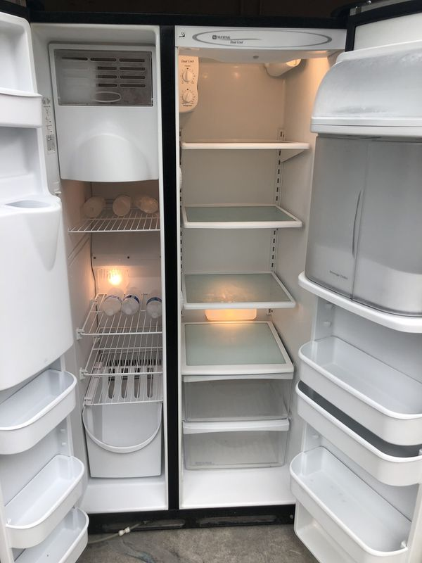 Maytag nevera Refrigerator refrigerador fridge stainless steel side by side 36x69x33 good condition