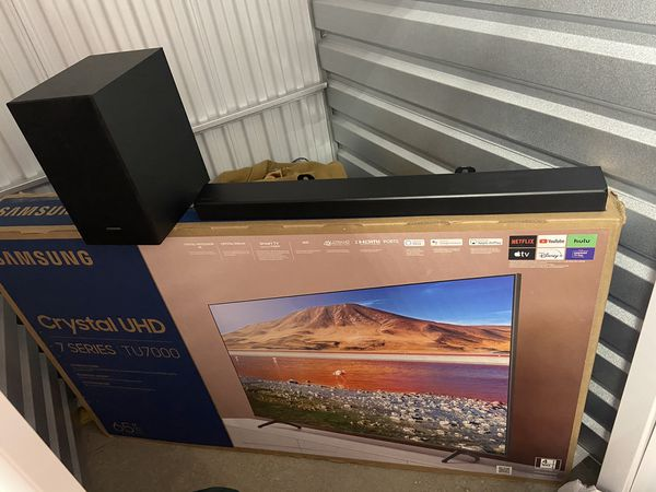 Samsung 7 series 65 inch with Sound bar and sub woofer Bluetooth ( Deposit required )