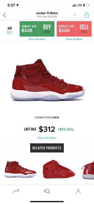 Jordan 11 Win Like 96 GS (Size 5y) for Sale in Pearland, TX