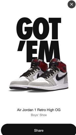 Jordan 1 Smoke Grey Size 6.5Y for Sale in Naugatuck, CT