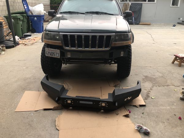 EAG Front bumper; winch plate , d-rings and lights