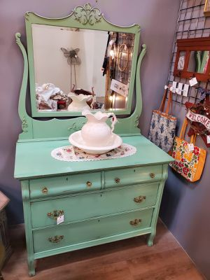 Antique Dresser with Mirror for Sale in Lakewood, CO