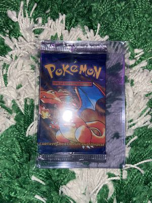 Sealed 1999 Pokemon Charizard Base Set Booster Pack Factory Sealed Spanish for Sale in Fort Lauderdale, FL