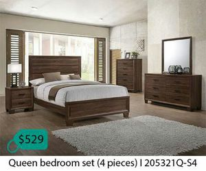 Queen bedroom set 4 pieces for Sale in Santa Ana, CA